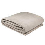 Cotton Velvet Blanket Ash