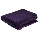 Cotton Velvet Blanket plum